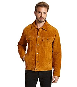 Excelled Men's Suede-Feel Classic Jacket