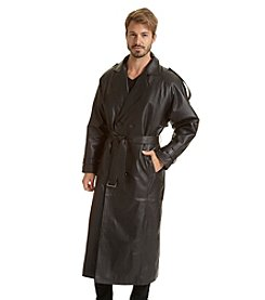 Excelled Men's Double-Breasted Trench Coat