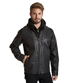 Excelled Men's Faux Leather Racer Jacket