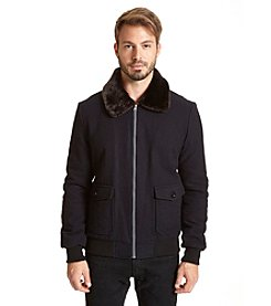 Excelled Men's Faux Wool Jacket