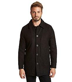 Excelled Men's Wool Melton Button Car Coat