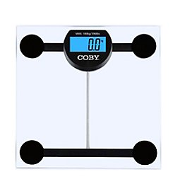 Coby® Clear Digital Glass Bathroom Scale with LCD Display
