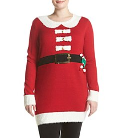 Love Always Plus Size Santa Candy Cane Tunic
