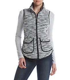 Sequin Hearts® Puffer Tweed Vest