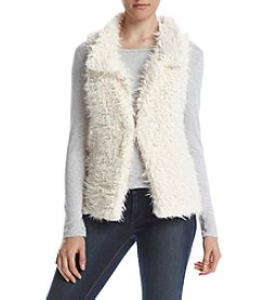 Sequin Hearts® Faux Sherpa Fur Vest