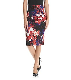 Sequin Hearts® Floral Midi Skirt