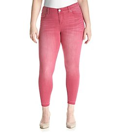 Celebrity Pink Plus Size Hem Ankle Jeans