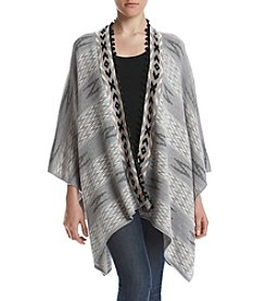 Sequin Hearts® Poncho Cardigan Sweater