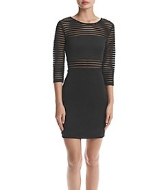 A. Byer Stripe Illusion Scuba Dress