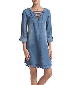 Skylar & Jade™ Lace-Up Denim Dress