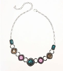 Napier® Multicolored Stone Frontal Necklace