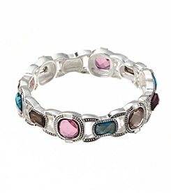 Napier® Multicolored Stone Stretch Bracelet
