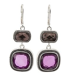 Napier® Multi Stone Double Drop Earrings
