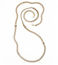 Napier® Goldtone Chain Strand Necklace