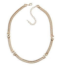 Napier® Goldtone Chain Collar Necklace