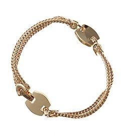 Napier® Goldtone Mesh Chain Flex Bracelet