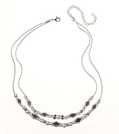 Napier® Two Row Frontal Necklace