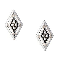 Napier® Silvertone Kite Button Earrings