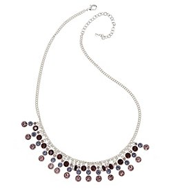 Napier® Purple Stone Drama Frontal Necklace