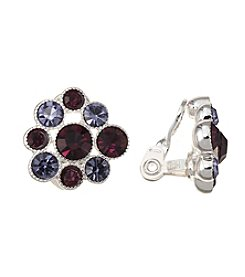 Napier® Silvertone Cluster Clip Earrings