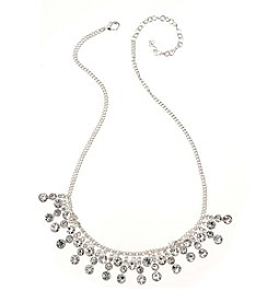Napier® Crystal Drama Frontal Necklace