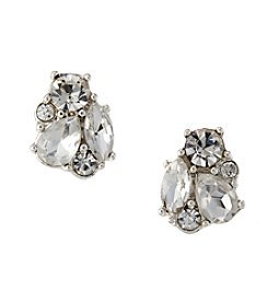 Napier® Crystal Cluster Button Earrings
