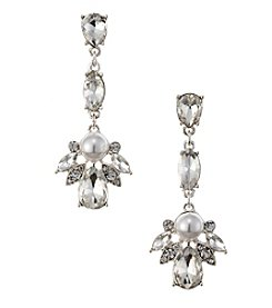 Napier® Crystal Linear Drop Earrings
