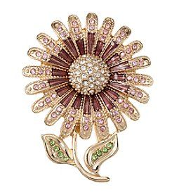 Napier® Boxed Goldtone Flower Pin