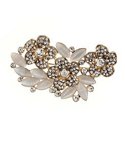 Napier® Boxed Crystal Flower Cluster Pin
