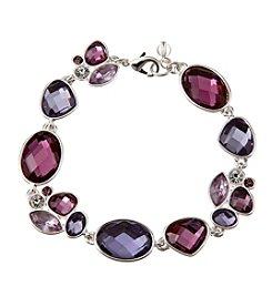 Napier® Boxed Purple Stone Line Bracelet