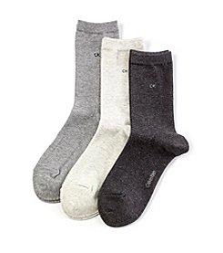 Calvin Klein 3-Pack Sparkle Crew Socks