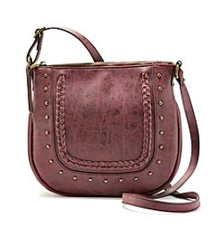 Ruff Hewn Crossbody With Zip Top And Braided Detail Saddle Bag