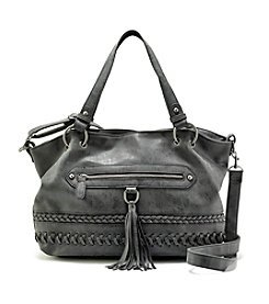 Ruff Hewn Stitch Detail Satchel With Tassle