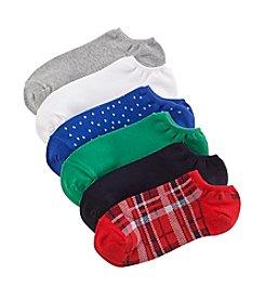 HUE® 6-Pack Cotton Liner Socks
