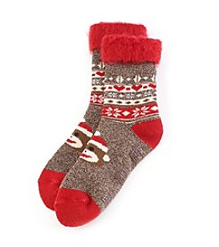 Legale® Holiday Heather Slipper Socks
