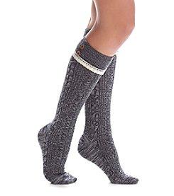 Legale® Turn Cuff Lace Book Socks