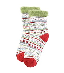 Legale® Holiday Print Slipper Socks