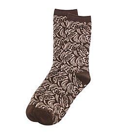 Relativity® Tapestry Floral Crew Socks