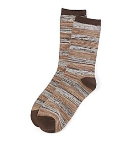 Relativity® Spacedye Stripe Crew Socks