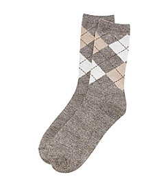Relativity® Argyle Crew Socks