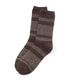 Cuddl Duds® High Low Multi Stripe Socks