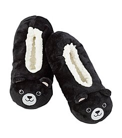 Fuzzy Babba® Pom Critter Panda With Memory Foam Slippers