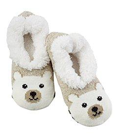 Fuzzy Babba® Teddy Fur Panda Critter Slippers
