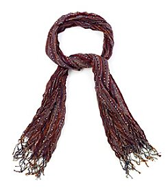 Collection 18 Chevron Pleated Wrap Scarf