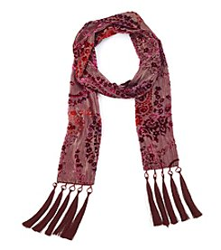 Collection 18 Velvet Burnout Scarf