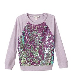 Jessica Simpson Girls' 7-16 Stellar Sequin Sweater