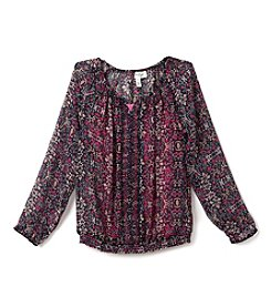 Jessica Simpson Girls' 7-16 Bayford Peasant Top
