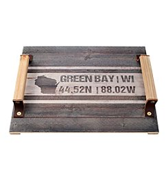 Kindred Hearts Green Bay Coordinates Serving Tray