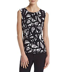 Calvin Klein Geo Print Pleat Neck Cami