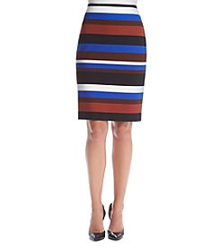 Nine West® Striped Pencil Skirt